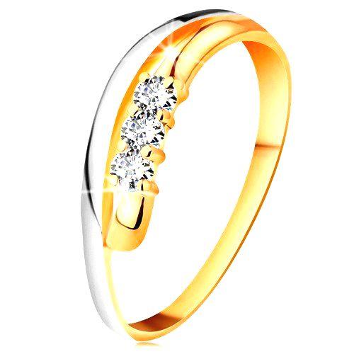 Briliantový prsteň v 14K zlate