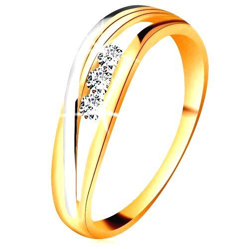 Briliantový prsteň zo 14K zlata