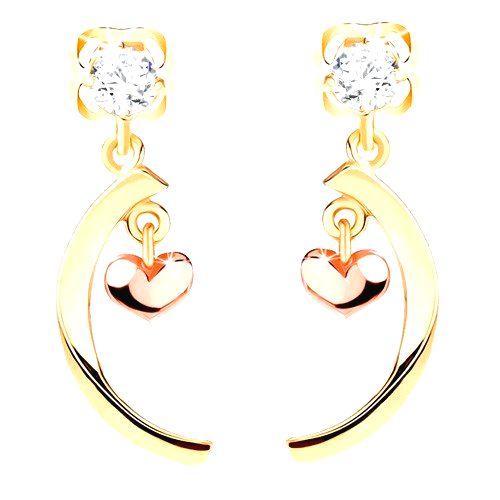 Diamantové náušnice zo 14K zlata - číry briliant