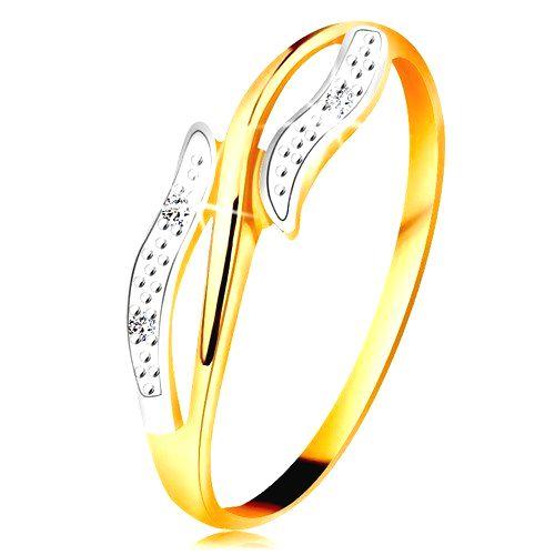 Diamantový prsteň zo 14K zlata