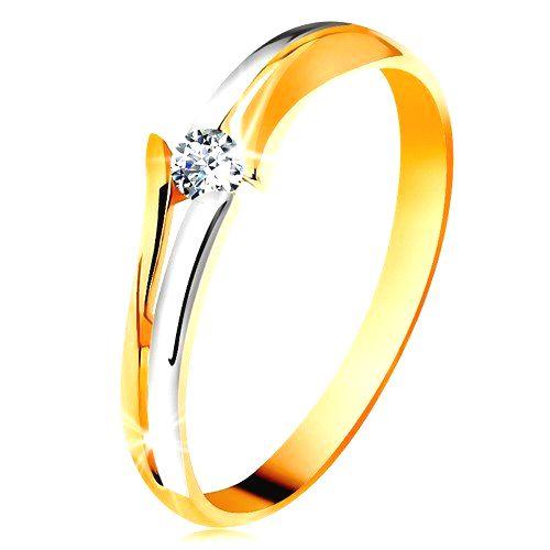 Diamantový zlatý prsteň 585