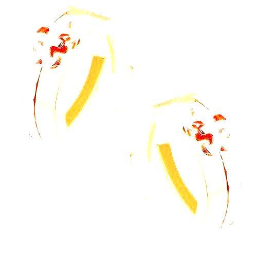 Dvojfarebné zlaté náušnice 585 - lesklý krúžok