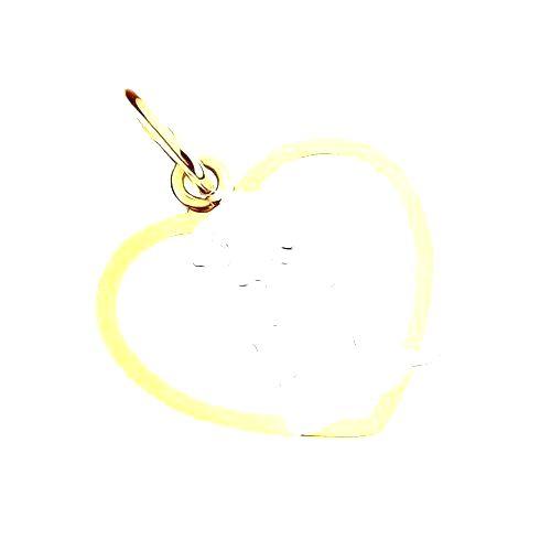 Dvojfarebný prívesok zo zlata 9K - anjelik pri modlitbe