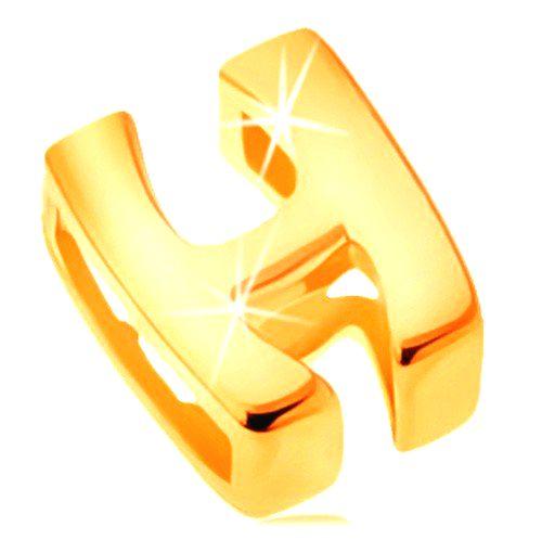 Lesklý prívesok v žltom 14K zlate
