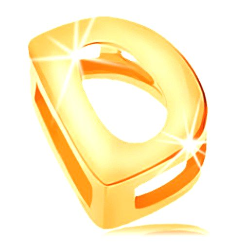 Lesklý prívesok v žltom zlate 585