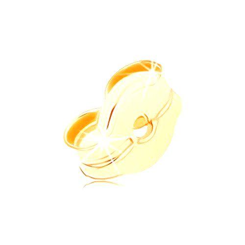Náhradné brzdítko na puzetové náušnice zo žltého 14K zlata