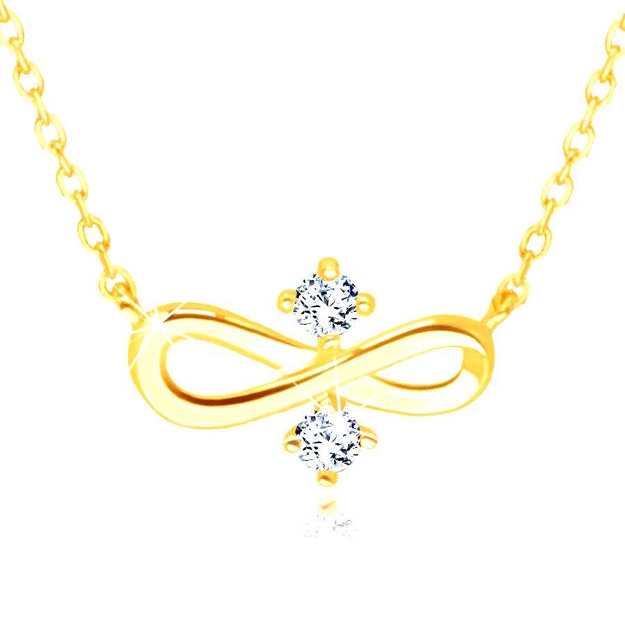Náhrdelník 585 v žltom zlate - symbol