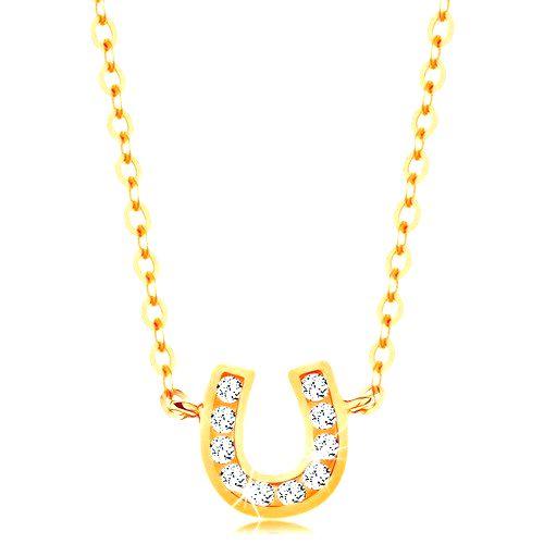 Náhrdelník v žltom 14K zlate - jemná retiazka