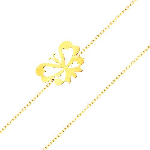 Náramok v žltom 14K zlate - jemná retiazka