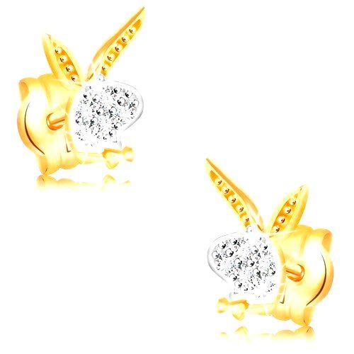 Náušnice v 14K zlate - hlava zajačika