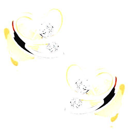 Náušnice v 9K zlate - dvojfarebná kontúra nesúmerného srdiečka