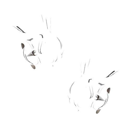 Náušnice v bielom 14K zlate - ligotavá hlava zajačika