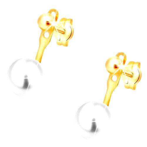 Náušnice v žltom 14K zlate