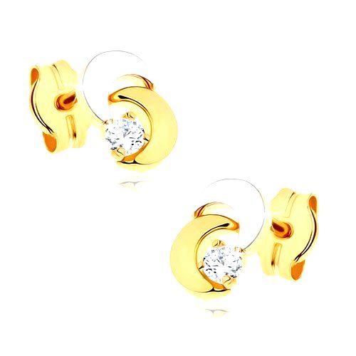 Náušnice z 9K zlata - dva mesiačiky