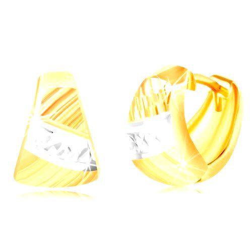 Náušnice zo zlata 585 - zaoblený trojuholník
