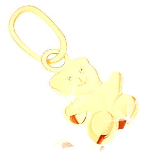 Prívesok v žltom 9K zlate - malý medvedík