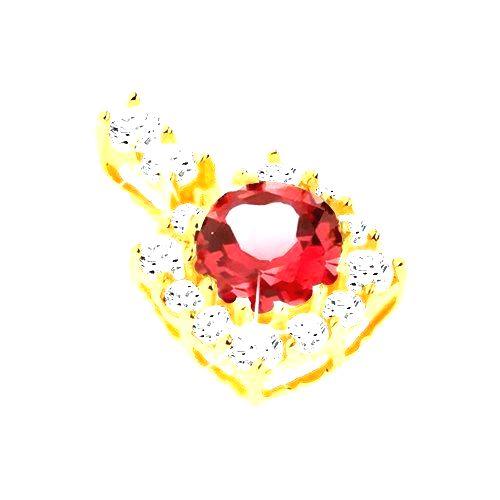 Prívesok zo žltého 9K zlata - štvorcový zirkónový obrys