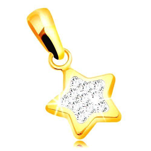 Prívesok zo žltého zlata 585 - trblietavá päťcípa hviezda