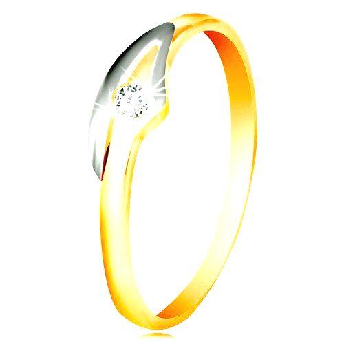 Prsteň v 14K zlate so zirkónom čírej farby