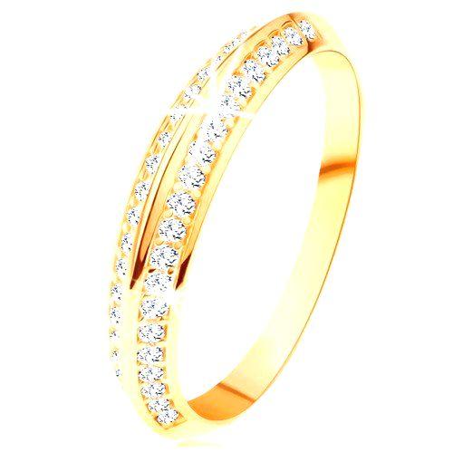 Prsteň v žltom 14K zlate