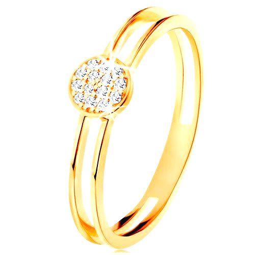 Prsteň v žltom zlate 585
