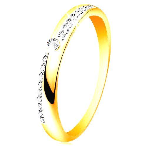 Prsteň zo zlata 585 - úzke línie z čírych ligotavých zirkónikov