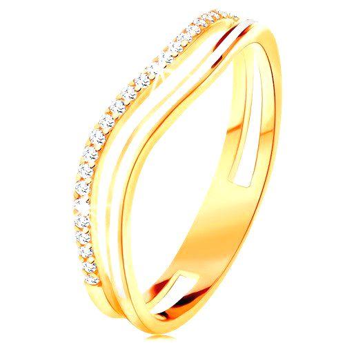 Prsteň zo žltého 14K zlata