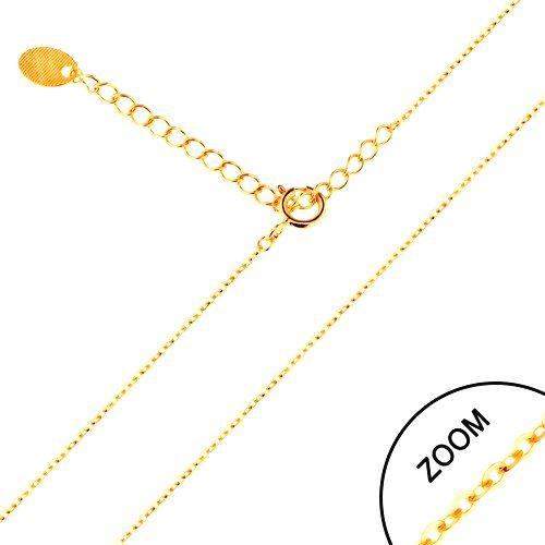 Retiazka v žltom 14K zlate - lesklé oválne očká