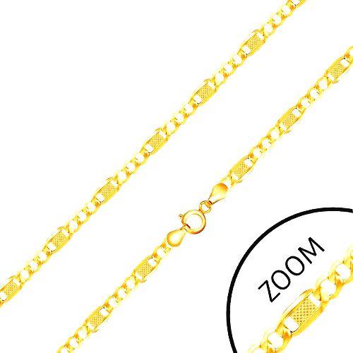Retiazka v žltom 14K zlate - tri očká