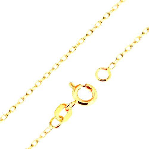 Retiazka v žltom 18K zlate - hladké oválne očká