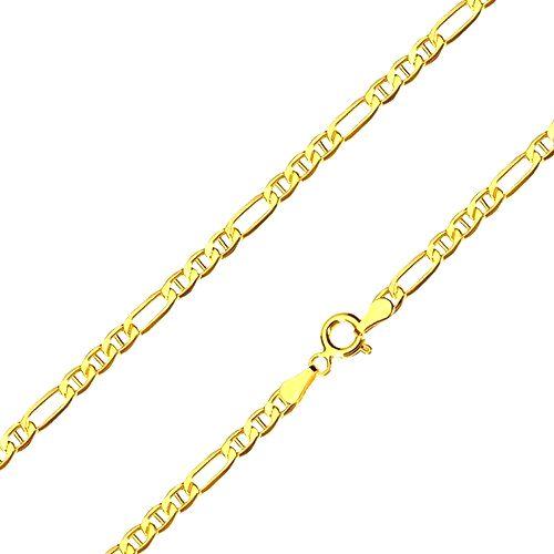 Retiazka zo 14K žltého zlata - podlhovasté očko