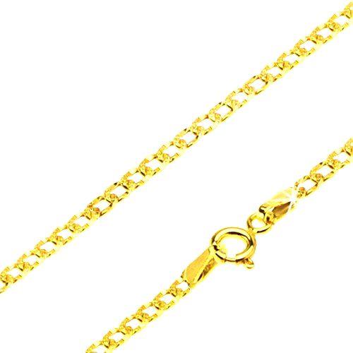 Retiazka zo žltého 14K zlata - ploské oválne očká