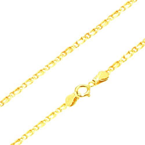 Retiazka zo žltého 14K zlata - prepojené oválne očká