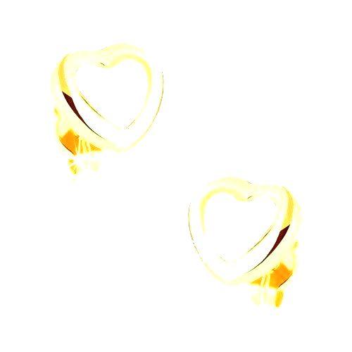 Ródiované náušnice v 9K zlate