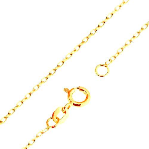 Zlatá 9K retiazka - hladké oválne očká