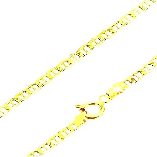 Zlatá retiazka 585 - malé ploché lesklé očká predelené paličkou