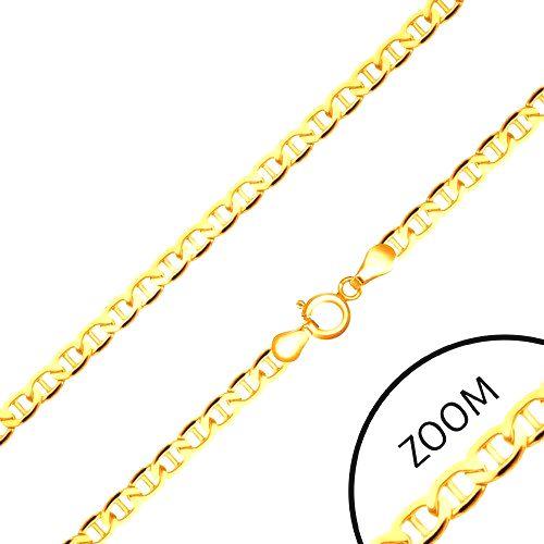 Zlatá retiazka 585 - ploché elipsovité očká