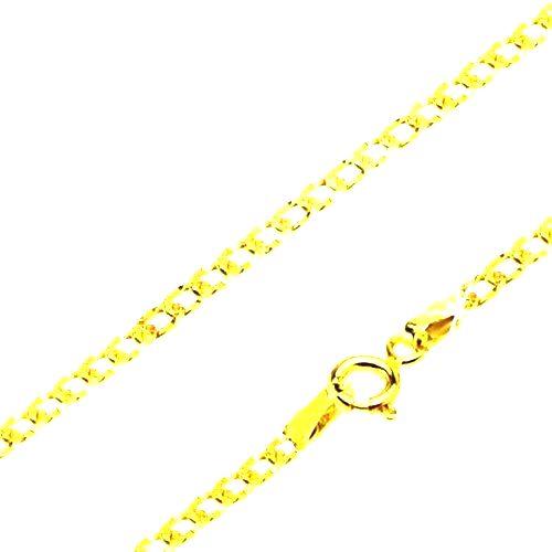 Zlatá retiazka 585 - široké očká zdobené drobnými jamkami