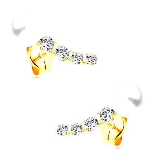 Zlaté 14K náušnice