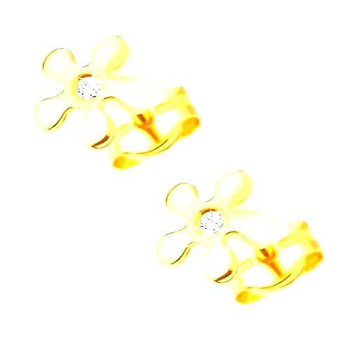 Zlaté náušnice 585