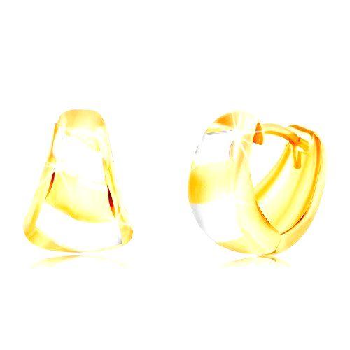 Zlaté náušnice 585 - rozšírený matný oblúk