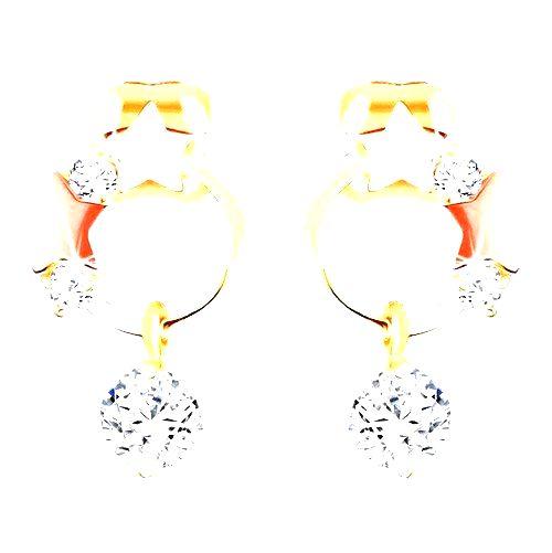 Zlaté náušnice 585 - tenká obruč