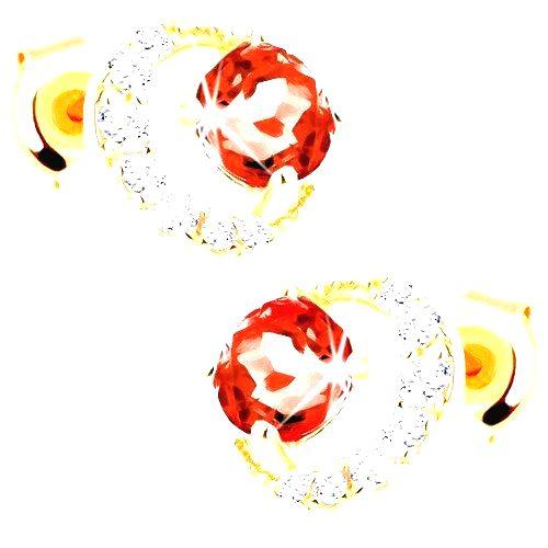 Zlaté náušnice 585 - zirkónový kosák mesiaca