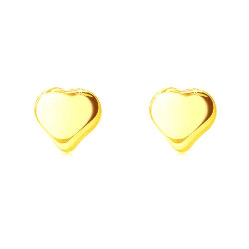 Zlaté puzetové náušnice 585 - lesklé