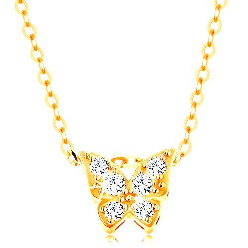 Zlatý 14K náhrdelník - lesklá retiazka