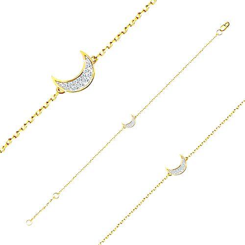 Zlatý 14K náramok - jemná lesklá retiazka