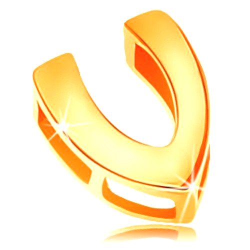 Zlatý 14K prívesok s lesklým a hladkým povrchom