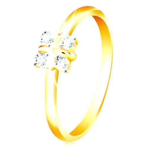 Zlatý 14K prsteň - lesklé zaoblené ramená