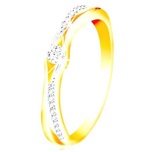 Zlatý 14K prsteň
