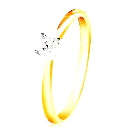 Zlatý 14K prsteň - tenké ramená